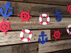 Guirnalda fiesta náutica náutica decoración náutica bebé