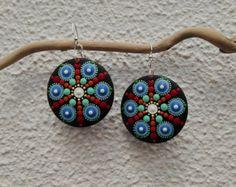 Punto di Mandala orecchini di legno 05-Mandala di Mandalaole