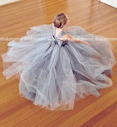 Flower Girl Dress Gray by OliviaKateCouture on Etsy