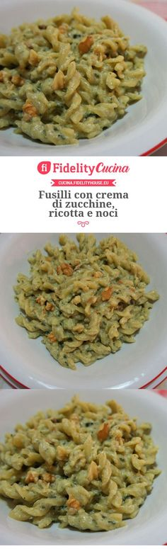 Here you can find a collection of Italian food to date to eat Veg Recipes, Wine Recipes, Italian Recipes, Vegetarian Recipes, Cooking Recipes, Healthy Recipes, Fusilli, Ricotta Pasta, Vegetarian