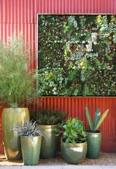 Vertical planting panels from Florag Grubb that let you create your own vertical garden.