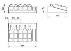 altura garrafa vinho