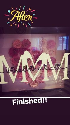 Mother's Day shadow box Mothers Day Crafts For Kids, Diy Mothers Day Gifts, Fathers Day Crafts, Grandparent Gifts, Flower Shadow Box, Diy Shadow Box, Mother's Day Projects, Vinyl Projects, Morhers Day Gifts