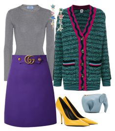 """""""Untitled #2833"""" by moxieremon on Polyvore featuring Loewe, Prada, Gucci, M Missoni, Betsey Johnson and Balenciaga"""