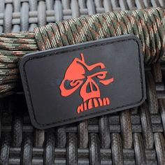Black Blood Skull Prints 3D PVC Velcro Patch Medium Army Outdoors 100% New #New #Accessory