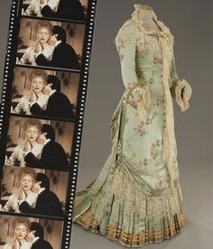 """Ellen Olenska's silk and lace gown from the """"confession of love"""" scene in The Age of Innocence."""
