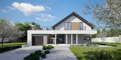 Projekt domu HomeKoncept-02 159,77 m2 - koszt budowy - EXTRADOM House Layout Plans, House Layouts, House Plans, Bungalow House Design, Modern House Design, Cottage Plan, Good House, Design Case, Home Fashion