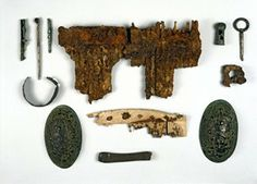 Collection of Viking age items from Ardvouray.  Photo credit - British Museum