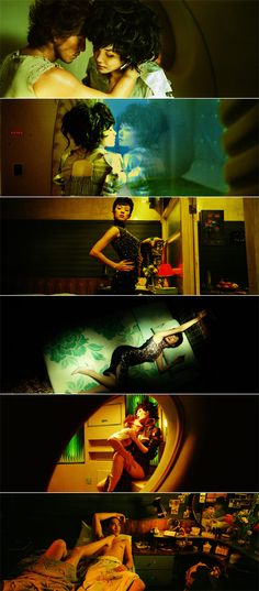 2046 stills #cinematography #films #movies - Interesting Palette and lighting...