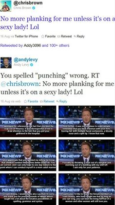 Chris Brown vs. Andy Levy. So funny, in the worst way.
