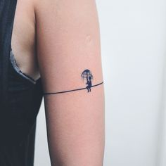 LAZY DUO Boy Rainy Day Minimal Hipster Temporary Tattoo