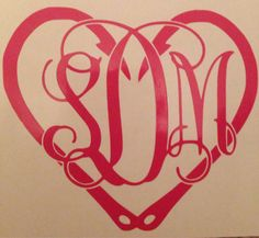 Monogram decal by OTWdecals on Etsy, $7.00