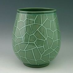 Korean Celadon Glaze Inlaid White Cracks Pattern Design Green Porcelain Ceramic Inlay Pottery Kitchen Home Decor Decorative Round Jar