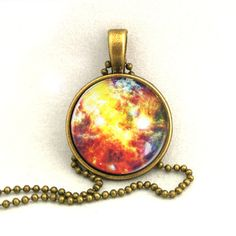 10% SALE Necklace Trifid Nebula, Galaxy Jewelry, Universe, Space, Pendant Necklaces,Constellation,Gift For Her. £7.69, via Etsy.
