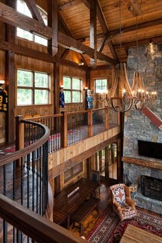 Custom Log Homes Log Cabin House Plans Rustic Home Plans Log Cabin House Plans, Rustic House Plans, Log Cabin Homes, Log Cabins, Barn Homes, Log Homes Exterior, Casa Loft, Loft House, Canoe House