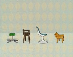 Mid century chairs by Melissa Bryant