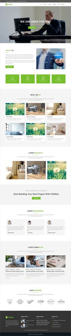 Consal is clean and modern design responsive #WordPress theme for #corporate business and agencies website download now..