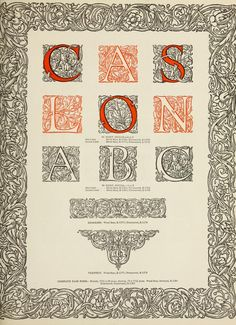Caslon Initials, from The manual of linotype typography prepared to aid users and producers of printing in securing greater unity and real beauty in the printed page. Typographical plan and critical comment by William Dana Orcutt, in co-operation with Edward E. Bartlett. Mergenthaler Linotype company in Brooklyn, N.Y., 1923