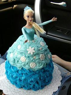 My Elsa cake for Sophia's 3rd birthday.