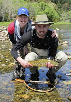 Sean trout fishing on his holidays with Fran!