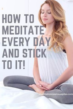 How to meditate every day and stick to it! #meditation #yoga morning meditation routine, morning meditation for beginners tips, how to meditate in the morning, morning meditation for anxiety, meditation habit, meditation for beginners stress, how to meditate daily Meditation Meaning, Meditation Methods, Meditation For Anxiety, Power Of Meditation, Meditation Retreat, Morning Meditation, Meditation Benefits, Meditation Space, Daily Meditation