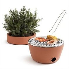 Hidden BBQ Planter! Just be sure to let it cool before you put the top back on. :)