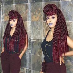 Burgundy color lot hot sale havana twist crochet braiding hair ombre soft and elastic kanekalon synthetic hair braids Twist Braid Hairstyles, Crochet Braids Hairstyles, Twist Braids, Crotchet Braids, Havana Twists, Twisted Hairstyles, Hair Twists, Marley Twists, Twist Hair