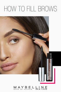 Sparse brows are a thing of the past. This eye makeup tutorial from Maybelline shows how to shade, define and fill your brows.