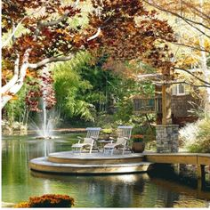 getting some dock ideas: love the steps to the water.
