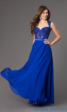 Floor Length Sweetheart Prom Dress at SimplyDresses.com
