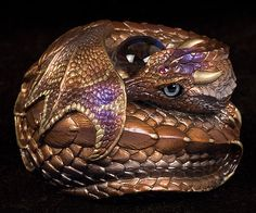 Nutmeg - Limited Production - Windstone Editions 'Curled Dragon' sculpt