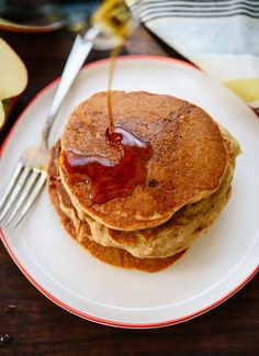 Apple oat pancakes recipe - cookieandkate.com