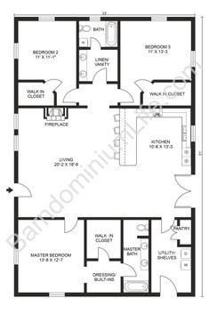 Simple Floor Plans, Small House Floor Plans, Basement House Plans, Open Concept Floor Plans, Floor Plan Layout, Barn House Plans, New House Plans, Dream House Plans, Studio Floor Plans
