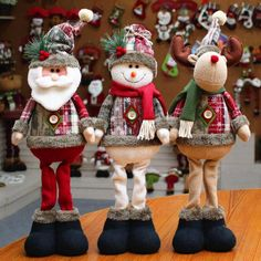 Christmas Tree Decor New Year Ornament Reindeer Snowman Santa Claus Standing Doll Home Decoration Merry Christmas Height Christmas Window Decorations, Snowman Decorations, Christmas Tree Ornaments, Xmas Tree, Christmas Gnome, Christmas Gifts For Kids, Christmas Crafts, Merry Christmas, Christmas Accessories