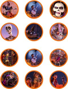 Printable Disney Coco Cupcake toppers Digital download