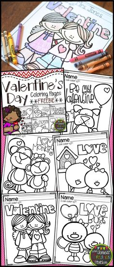 Valentine's Day Coloring Pages FREEBIE | Mrs. Jones' Creation Station