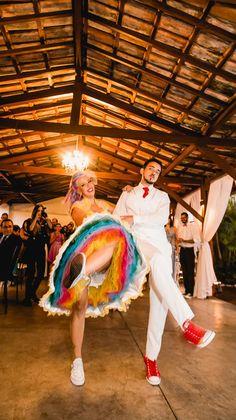 Casamentos reais, recepção, noivos alternativos, Nicole e Caio