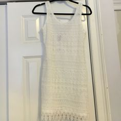 H&M crochet dress Beautiful white lace dress. Never been worn new with tags! Too big for me! Send offers!!! H&M Dresses Mini