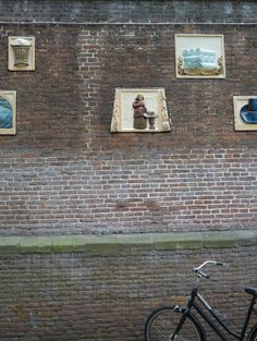 One of the surrounding walls that enclose the Amsterdam Museum...