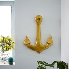 Papier-Mache Wall Art - Anchor