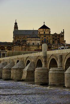 El puente romano  #Córdoba, España The Roman Bridge - Cordoba, Spain #patrimonio #promospain