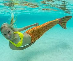 Mermaid Tails by Fin Fun with Monofin for Swimming - in Kids and Adult Sizes