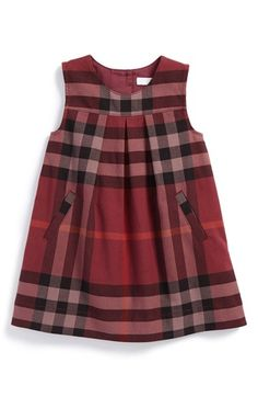 Burberry Check Print Sleeveless Dress (Baby Girls) available at #Nordstrom