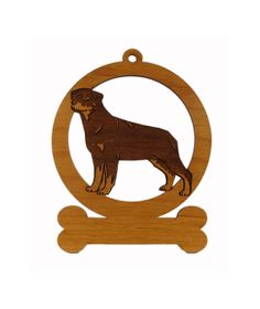 Rottweiler Standing Ornament 083832 by gclasergraphics on Etsy, $9.50
