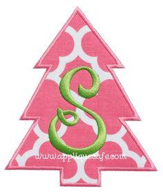 Simple Christmas Tree Applique Design