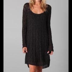 Free People Angel Mohair dress - black XS Soft mohair sweater dress with bell sleeves. As far as I can tell, it's sold out at > 450 retailers. Retail = $98 Free People Dresses Long Sleeve