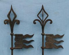 French iron weathervanes