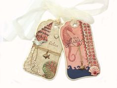 DOWN by the SEASHORE  Beach Handmade Gift Tags by MelodysMoments, $6.75 ** beautiful tag **