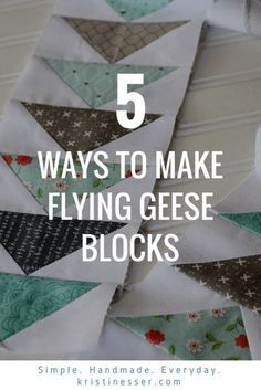 to Make a Flying Geese Block Different Ways! How to Make Flying Geese Quilt Ways How to Make Flying Geese Quilt Ways Quilting For Beginners, Quilting Tips, Quilting Tutorials, Machine Quilting, Quilting Designs, Triangle Quilt Tutorials, Triangle Quilts, Quilt Block Patterns, Pattern Blocks