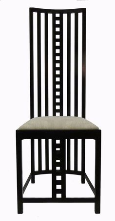 Mackintosh chair with tall seat back